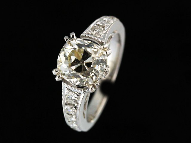 2.59 ct Old Mine Cut Ring