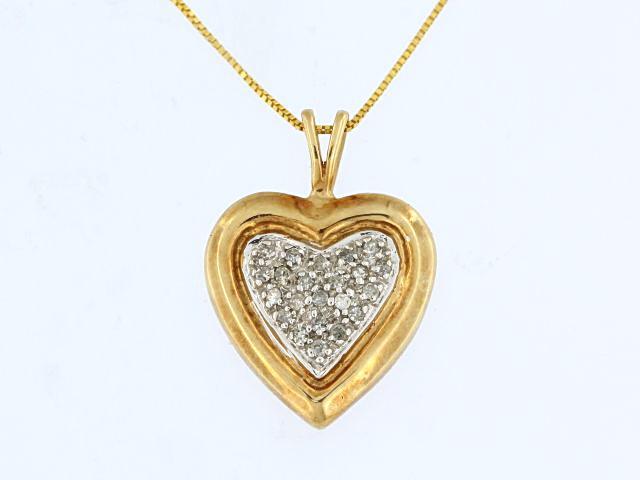 10KT Diamond Heart Pendant