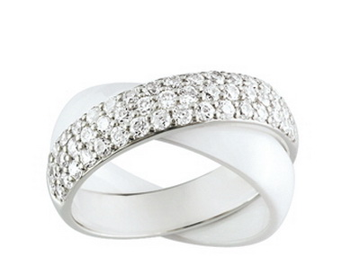 White & Silver Rolling Ring