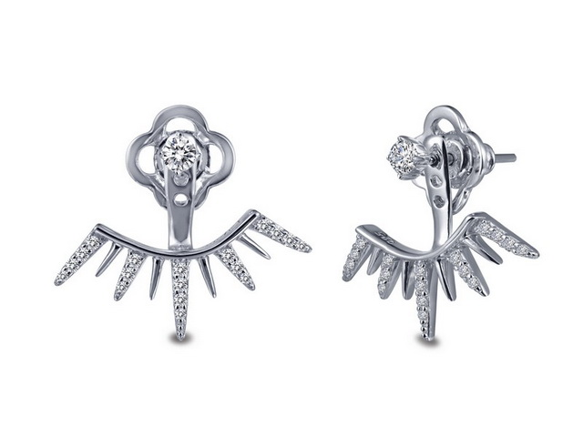 Stud Earrings with Jackets