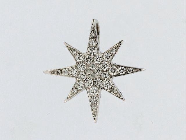 18KT Diamond Star Pendant
