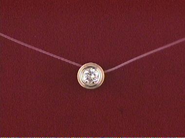 14ky Micro Cord Diamond Pendant