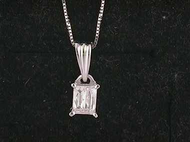 Duet Diamond Pendant .33ct Vs/ F
