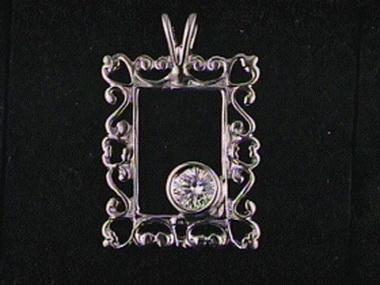 .21 Ct Diamond Frame Pendant