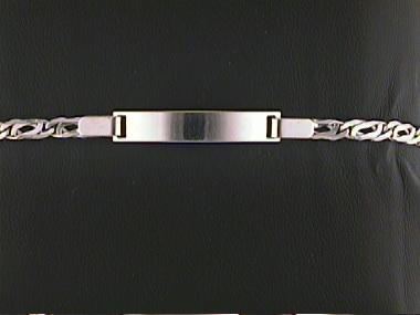"""18kw 6 1/4"""" Id Bracelet"""