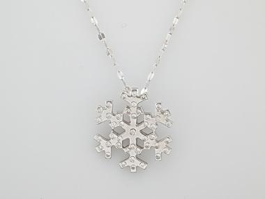 .45ctw Diamond Snowflake Pendant