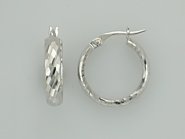 14KT textured hoop earrings