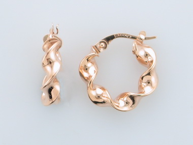 10KT Rose Gold Hoops