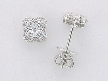 Diamond Quatrefoil Earrings