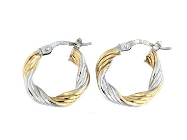 Two Tone Twist Hoops