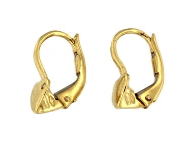 Heart French Back Earrings