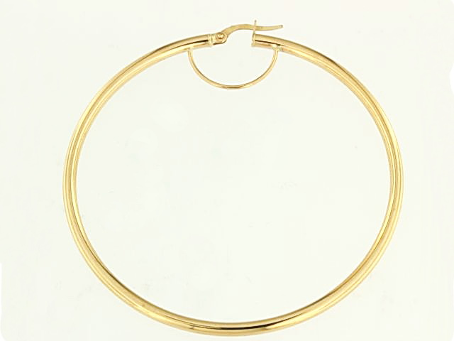 10KT Large Hoop Earrings