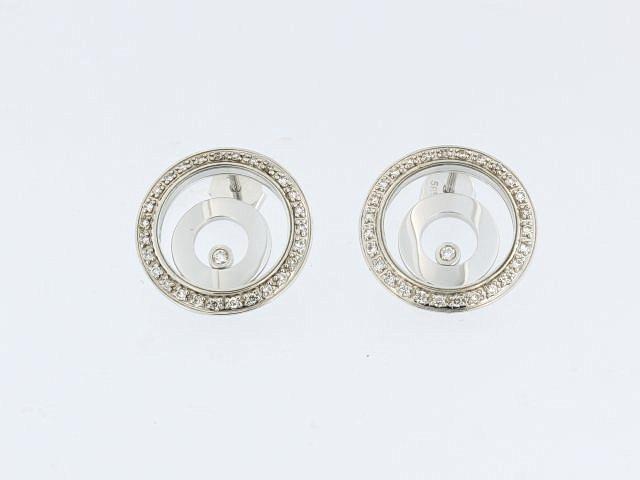 14KT Floating Diamond Earrings
