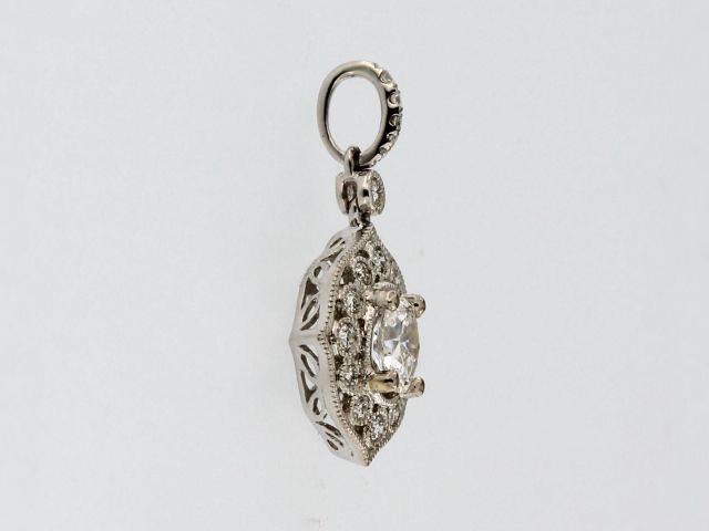 Oval Diamond Pendant