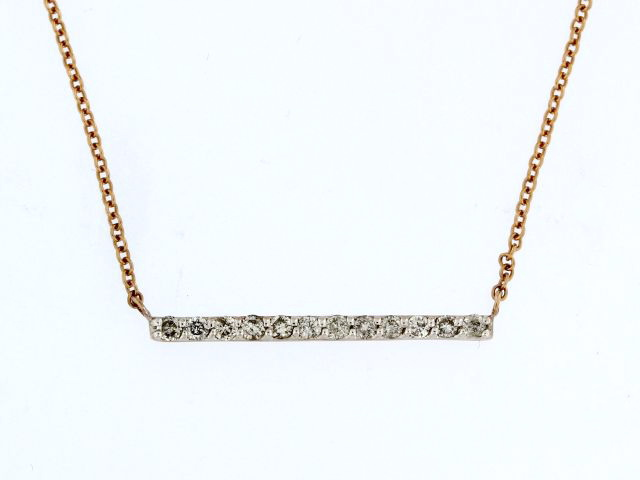 10KT Diamond Bar Pendant