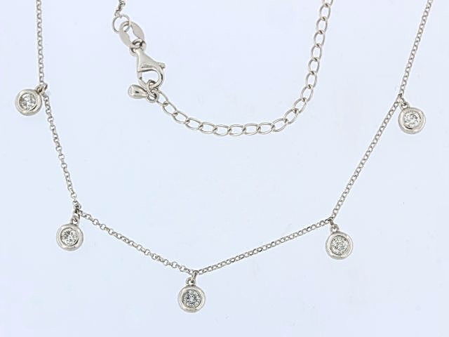 14KT Diamond Dangle Necklace