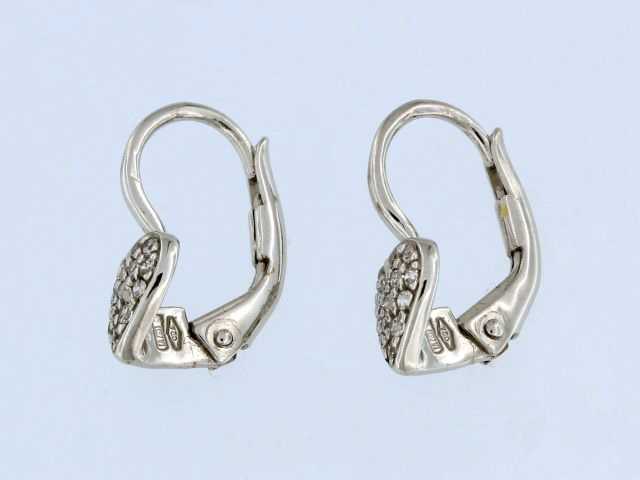 Heart Shaped French Back Earrings