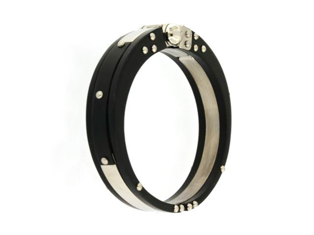 Blackened Steel Bangle