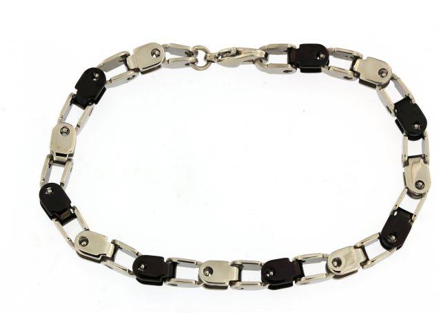 White & Black Steel Bracelet
