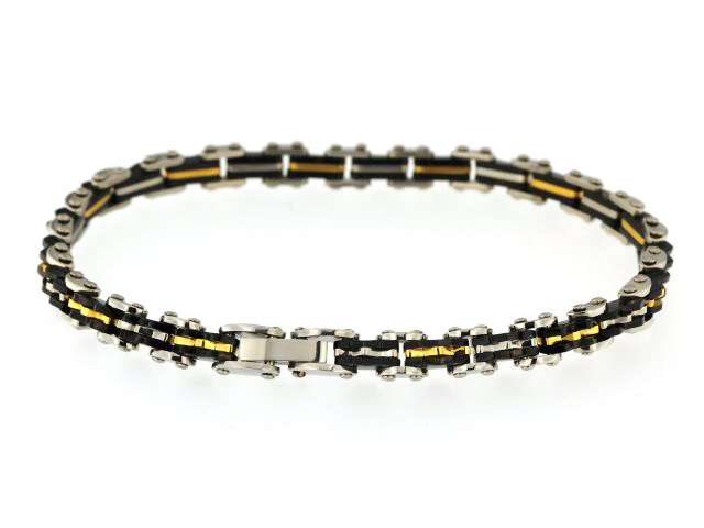 Tri Colour Steel Bracelet