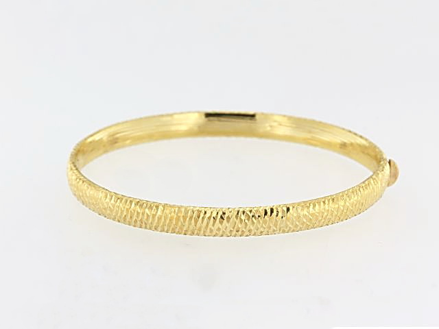 6 mm Textured Gold Bangle
