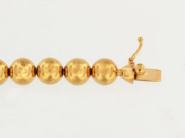 14KT Rose Bead Bracelet