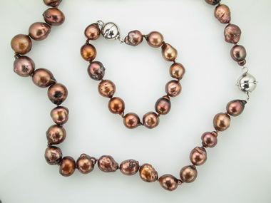Chocolate Freshwater Pearl Set