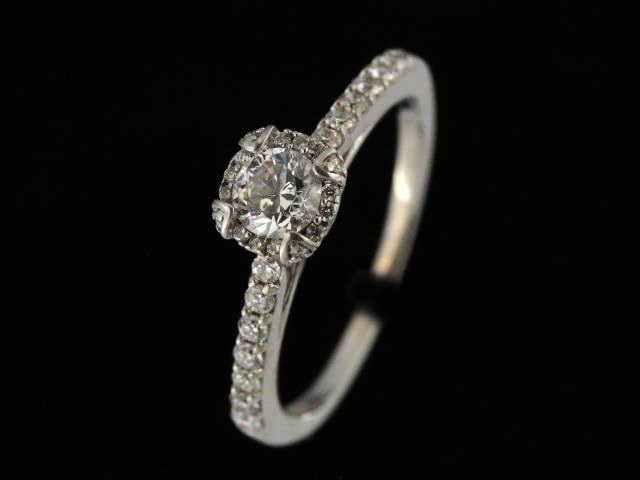 0.65 ctw Halo Engagement Ring