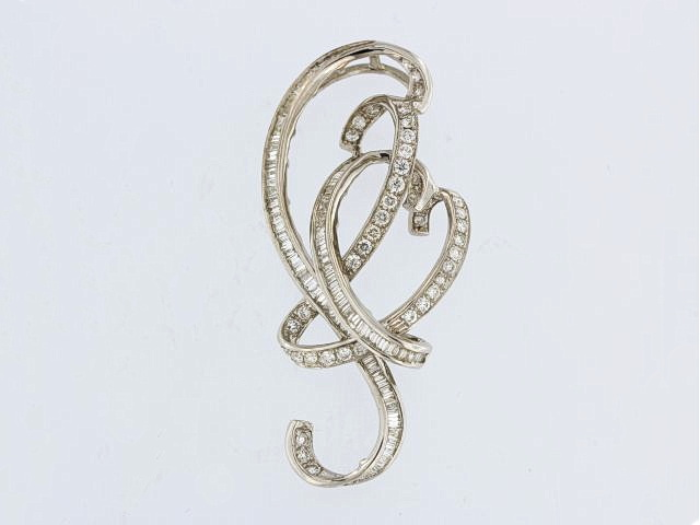 18KT Scroll Diamond Pendant