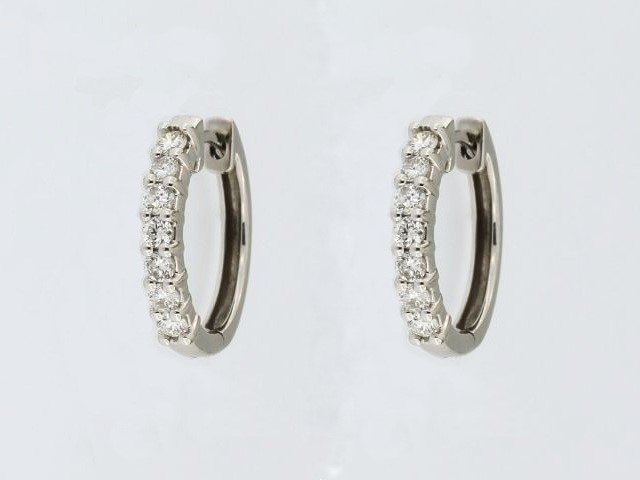 0.25 ctw Diamond Hoops
