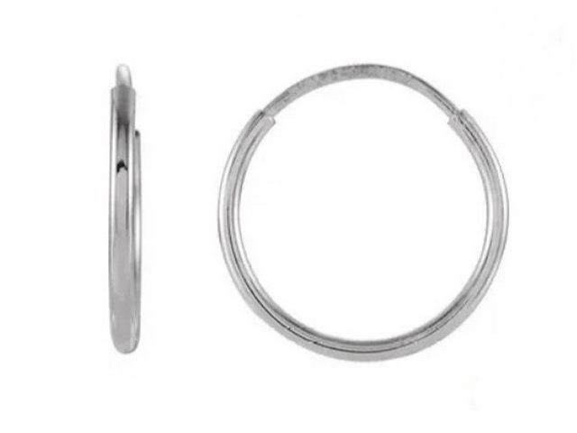 12 mm Sleeper Hoop Earring
