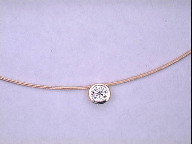 .33 Ct Bezel Set Diamond Pendant