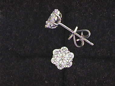 .71ctw Diamond Cluster Earrings
