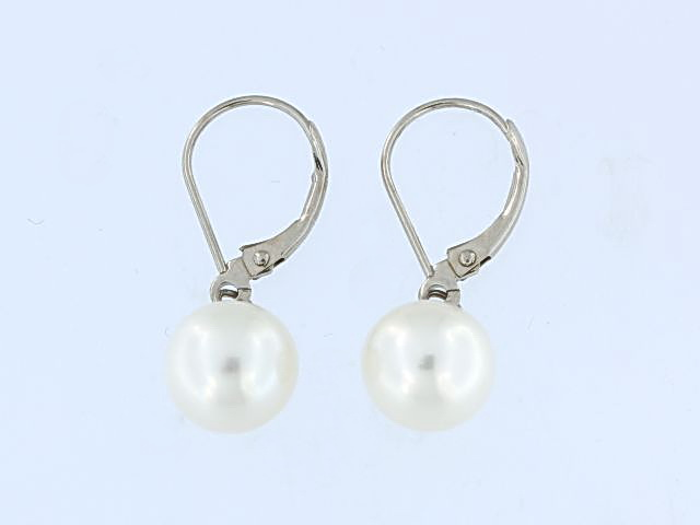 Akoya Pearl Lever Back Earrings