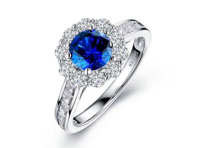 Sapphire & Cubic Ring