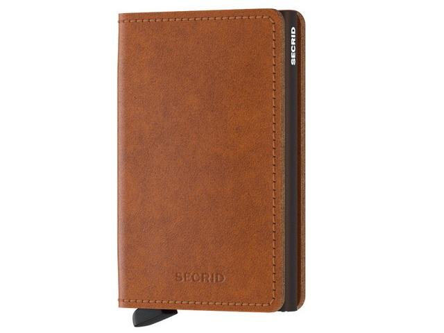 Cognac Slim Wallet
