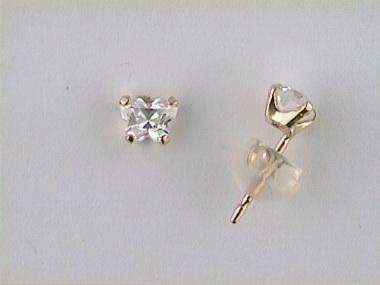 10ky April Butterfly Earrings