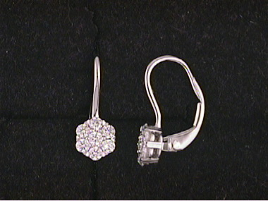 18kt Diamond French Back Earrings