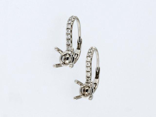 French Back Mount Earrings