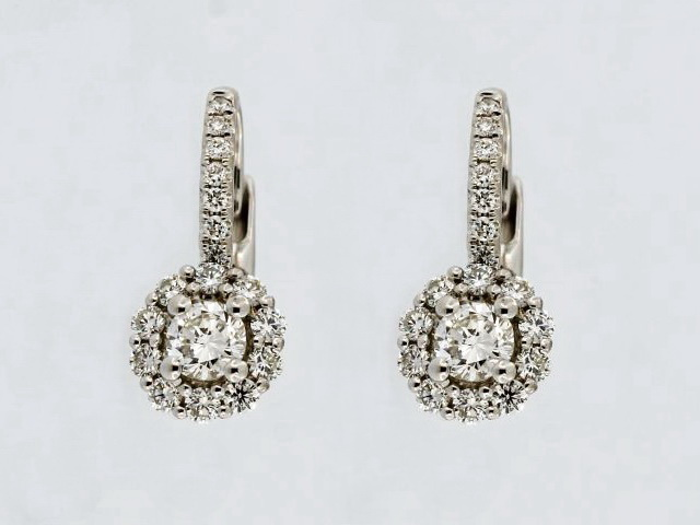 Diamond French Back Earrings