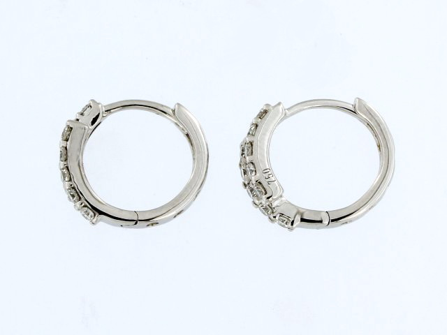 18KT Bypass Hoop Earrings