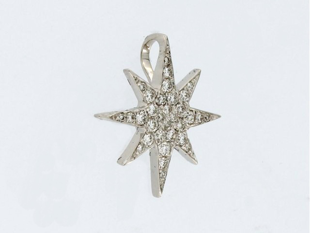 18KT Diamond Star Pendant