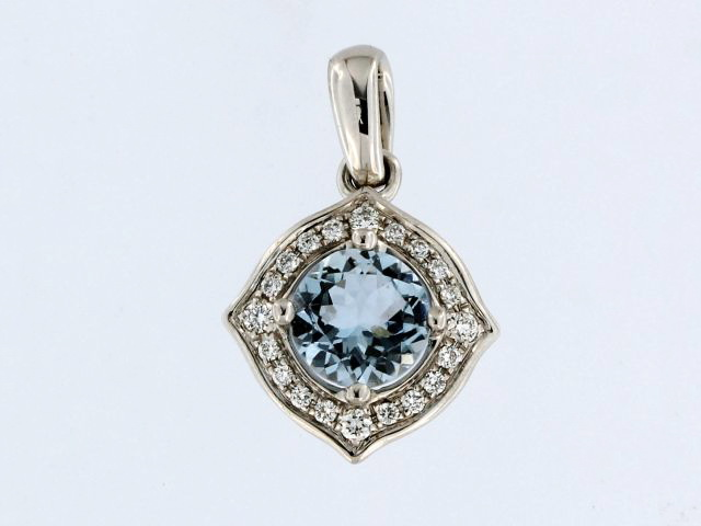 Aqua & Diamond Pendant