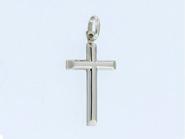 10KT White Gold Cross