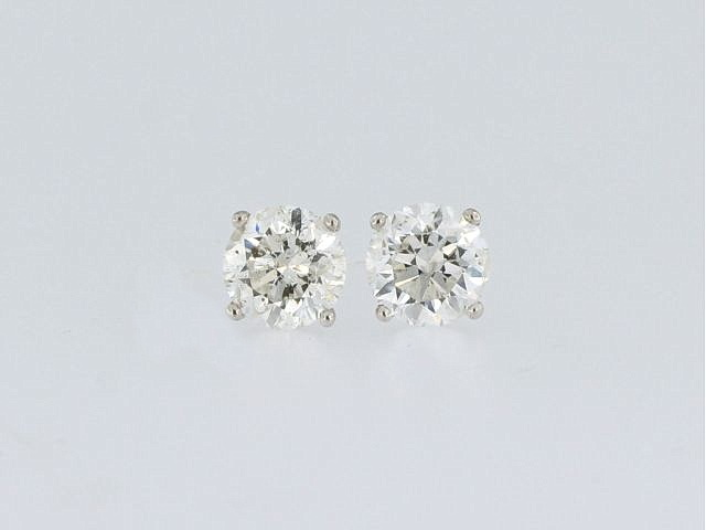 2.04 ctw Diamond Stud Earrings