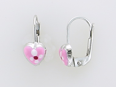 Enamel Heart Earrings