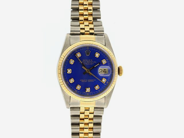 Gents Rolex Oyster Datejust TT Blue Dial