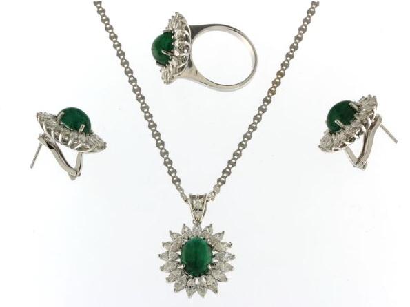 Emerald & Diamond Set