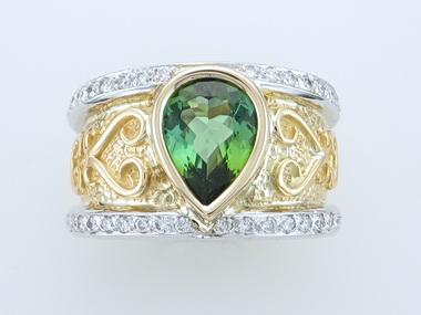 2.34ct Green Tourmaline Ring