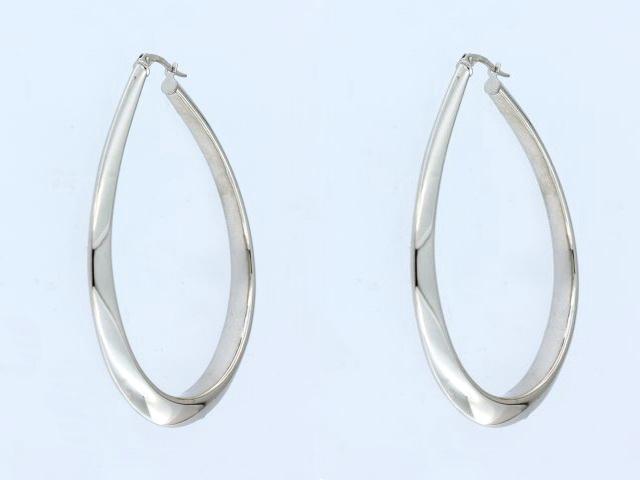 White Gold Electroform Earrings
